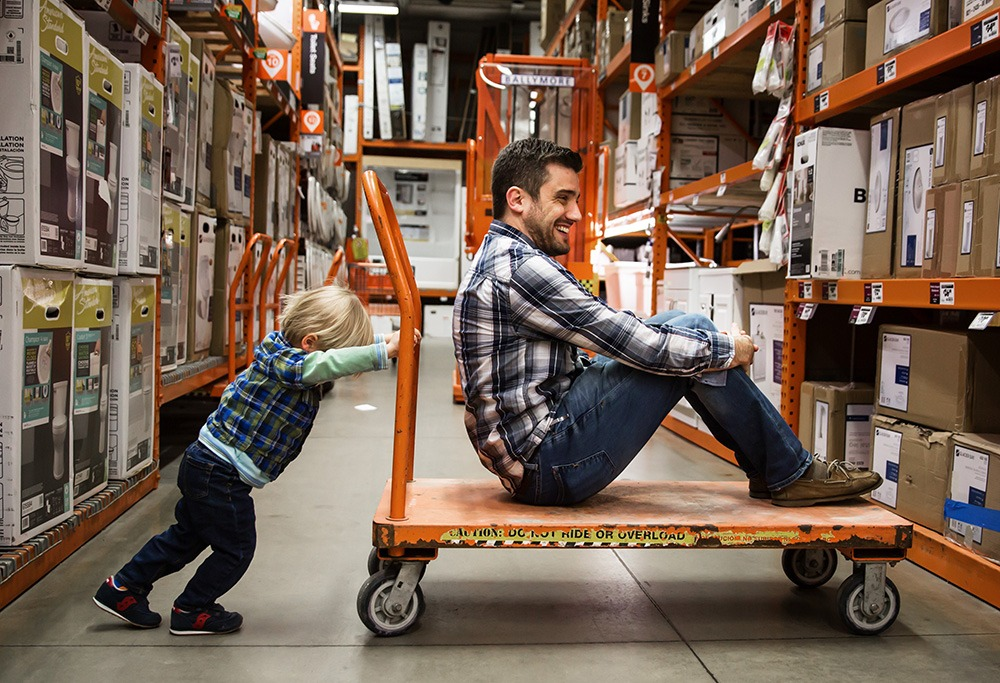 Home Depot With Dad